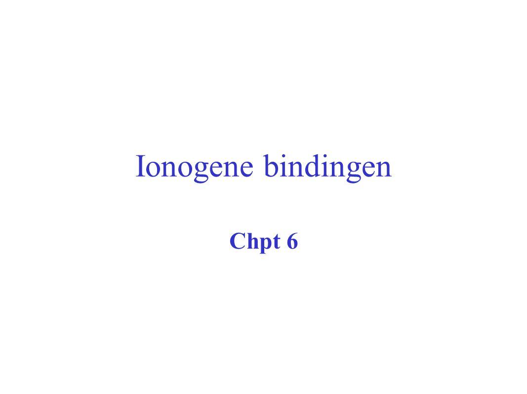 Ionogene bindingen Chpt 6