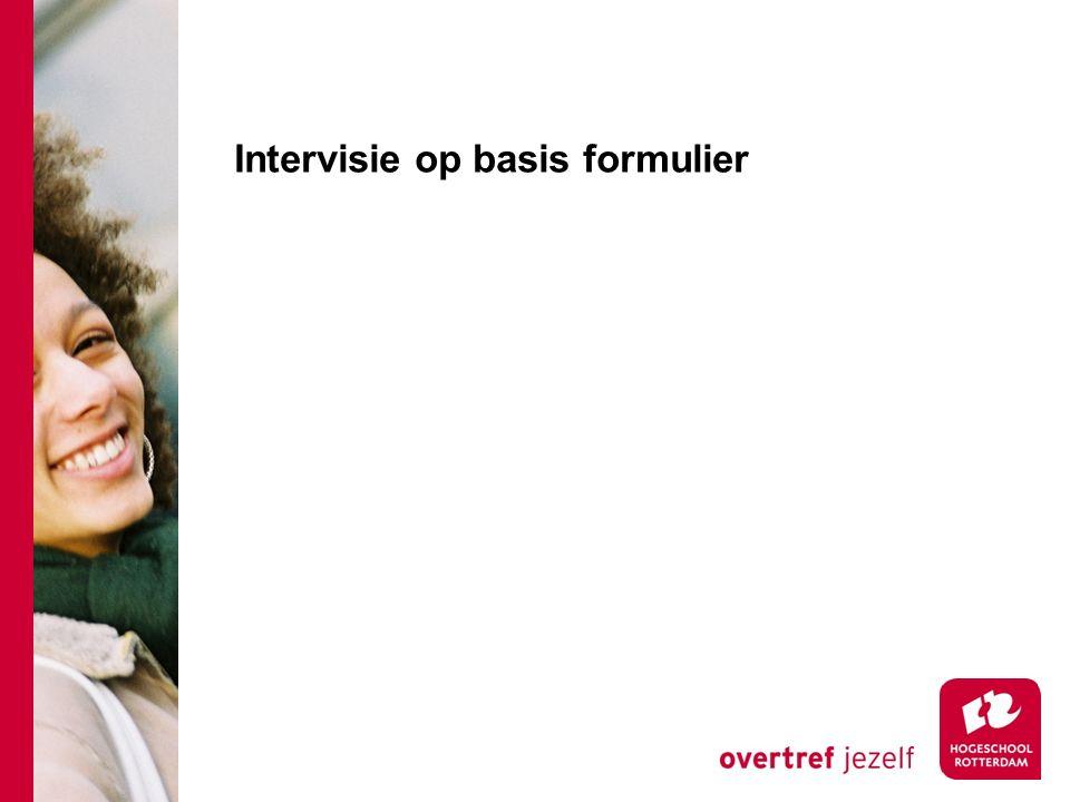 Intervisie op basis formulier