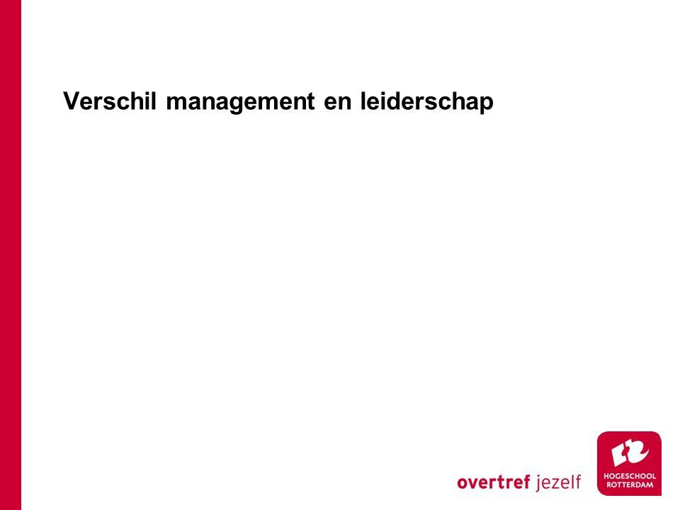 Verschil management en leiderschap