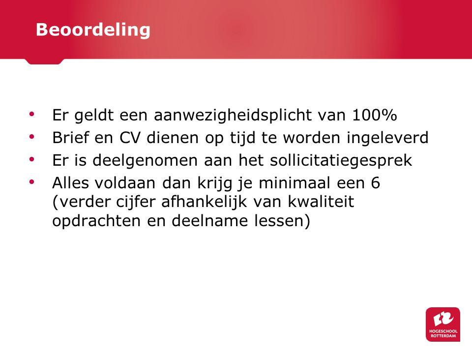 Opbouw module Les 1: Opstart module en uitleg brief en CV Les 2: Training Accenture Les 3: Afronding