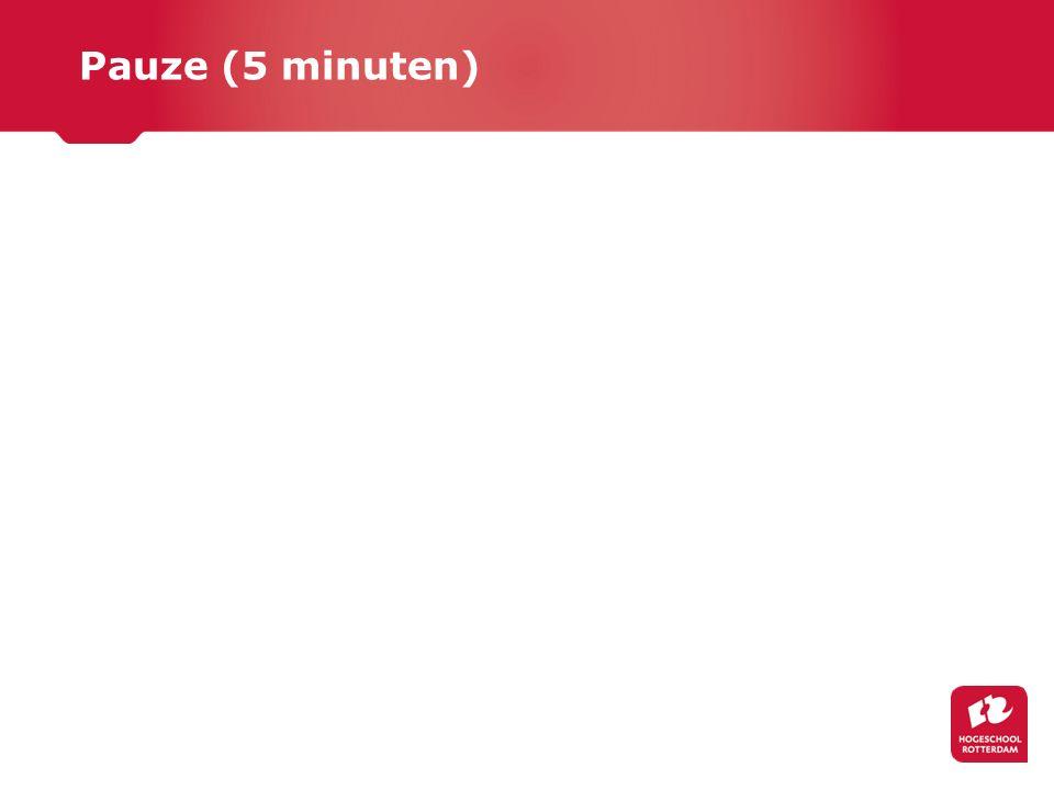 Pauze (5 minuten)