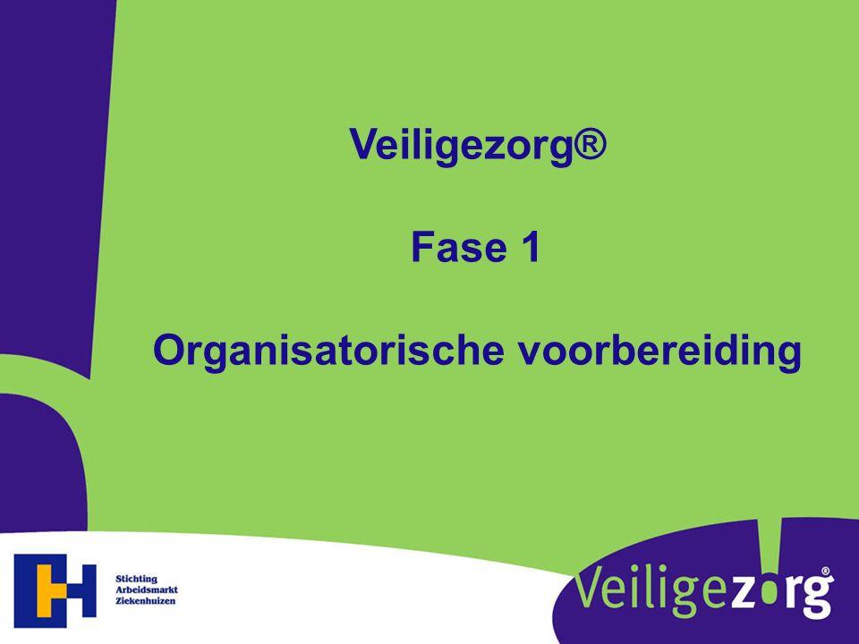 Veiligezorg® Fase 1 Organisatorische voorbereiding