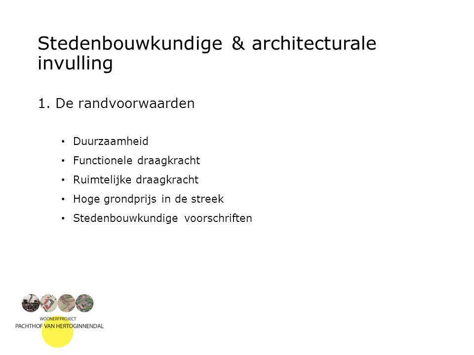Stedenbouwkundige & architecturale invulling 1.
