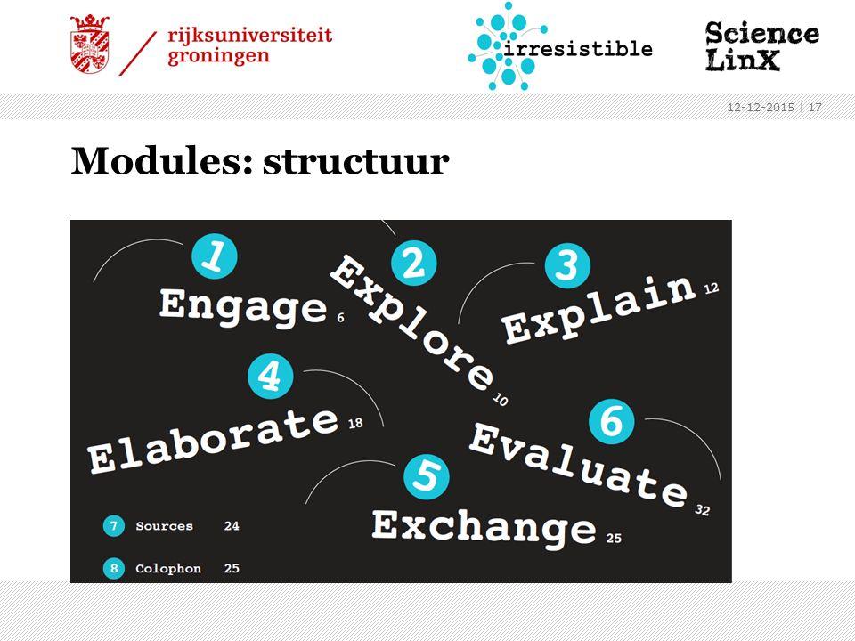 Modules: structuur 12-12-2015 | 17