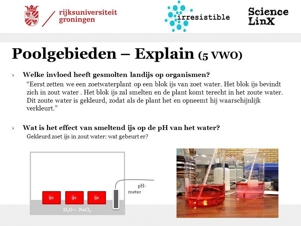 Poolgebieden – Explain (5 VWO) ›Welke invloed heeft gesmolten landijs op organismen.