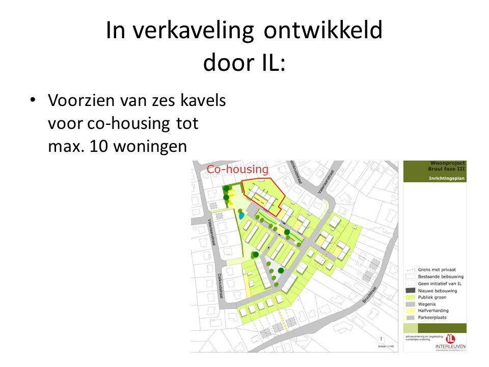 In verkaveling ontwikkeld door IL: Voorzien van zes kavels voor co-housing tot max. 10 woningen