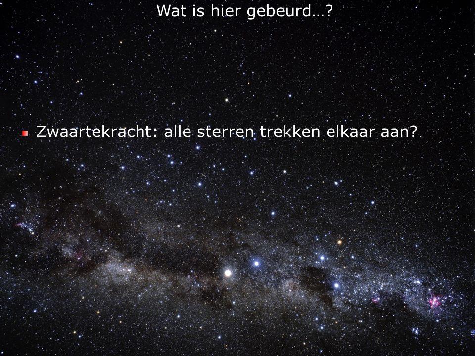 Zwaartekracht: alle sterren trekken elkaar aan
