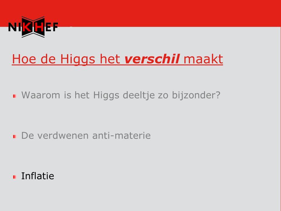 Hoe de Higgs het verschil maakt Waarom is het Higgs deeltje zo bijzonder.
