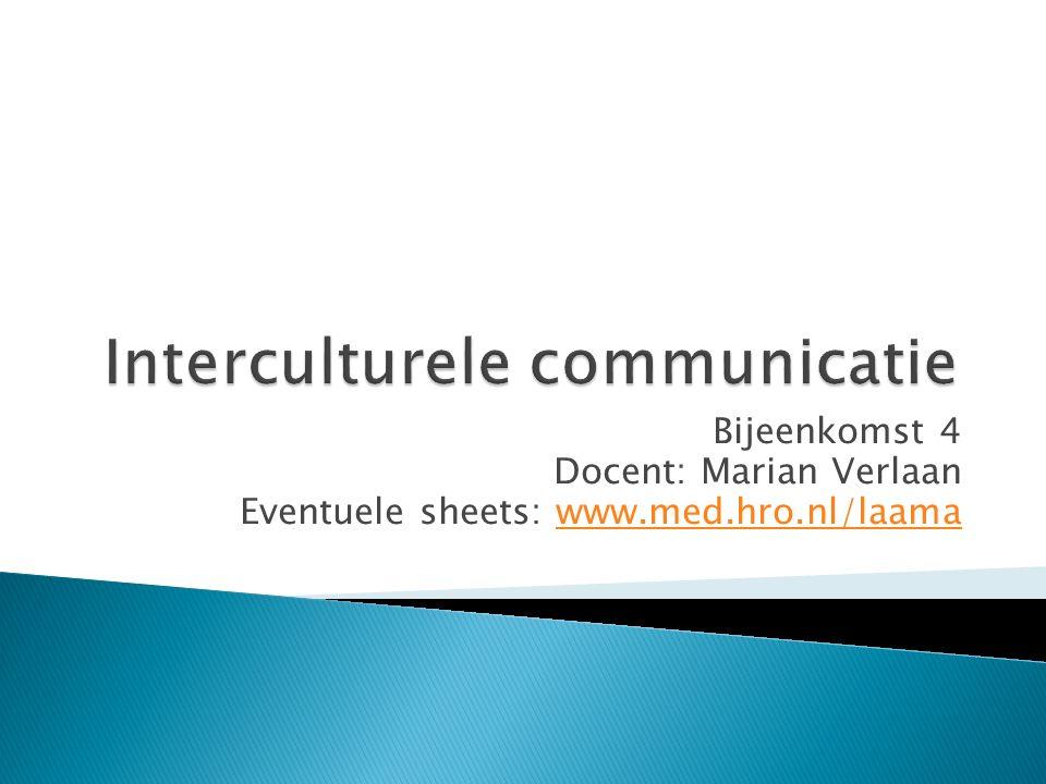 Bijeenkomst 4 Docent: Marian Verlaan Eventuele sheets: www.med.hro.nl/laamawww.med.hro.nl/laama