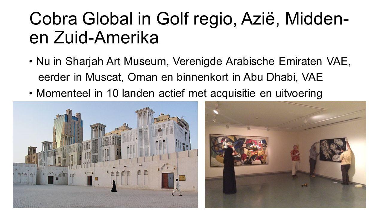 Cobra Global in Golf regio, Azië, Midden- en Zuid-Amerika Nu in Sharjah Art Museum, Verenigde Arabische Emiraten VAE, eerder in Muscat, Oman en binnen