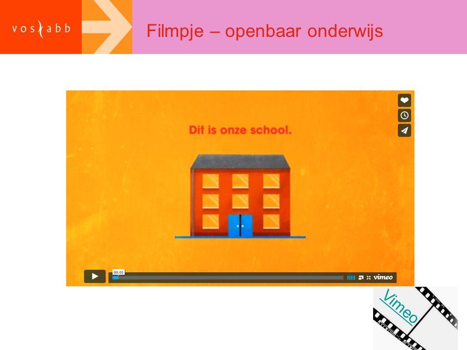Filmpje – openbaar onderwijs Vimeo