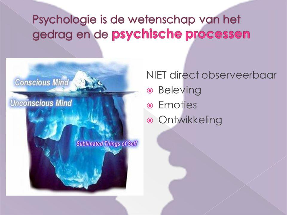 NIET direct observeerbaar  Beleving  Emoties  Ontwikkeling