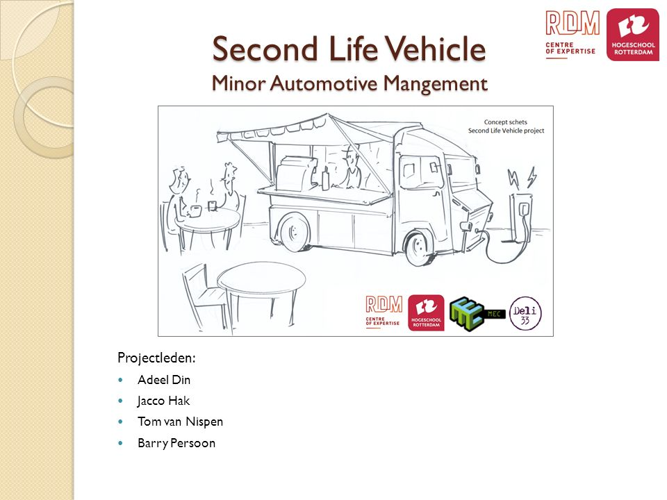 Second Life Vehicle Minor Automotive Mangement Projectleden: Adeel Din Jacco Hak Tom van Nispen Barry Persoon