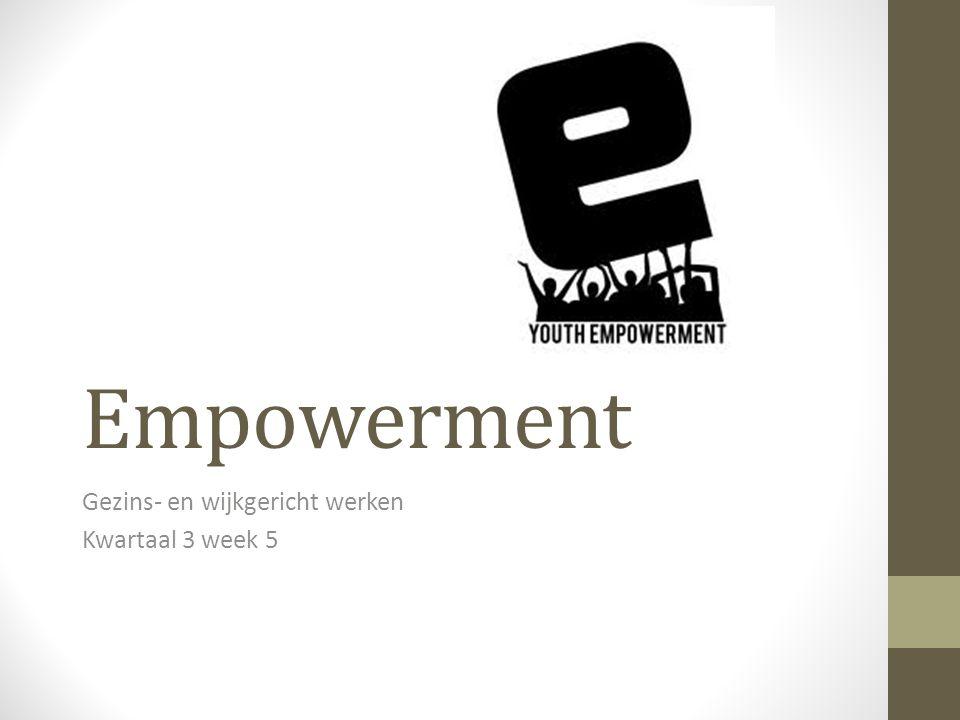 Empowerment Gezins- en wijkgericht werken Kwartaal 3 week 5