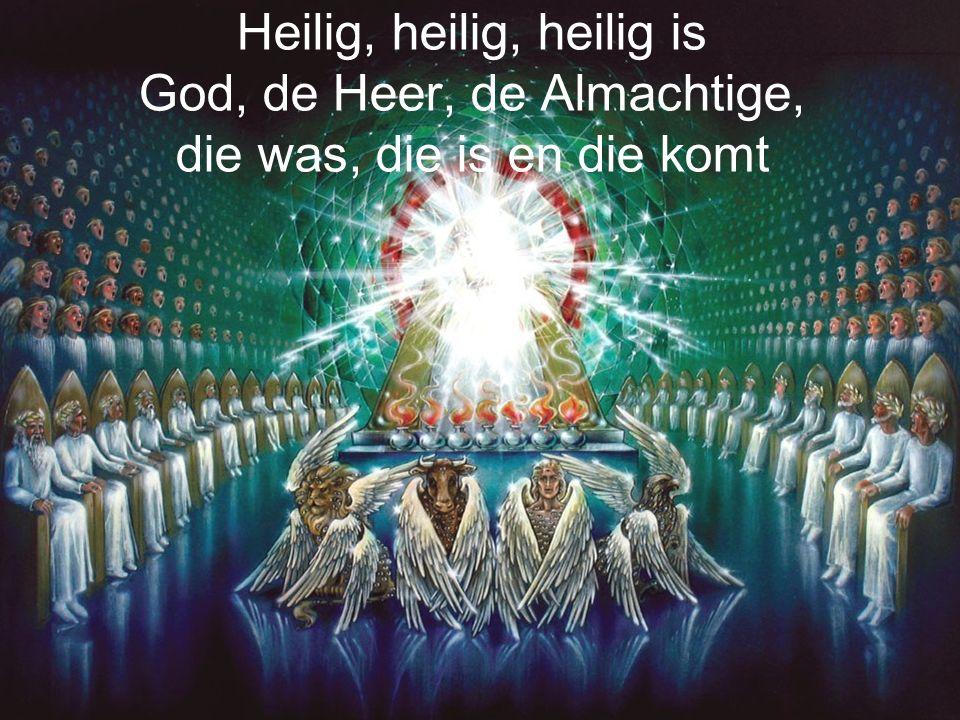 Openbaring 4:8 Heilig = anders, van een andere categorie Heel de schepping zal weer blij zijn met God als God omdat God God is komt de wereld tot een goed einde omdat God God is kan Hij je helpen