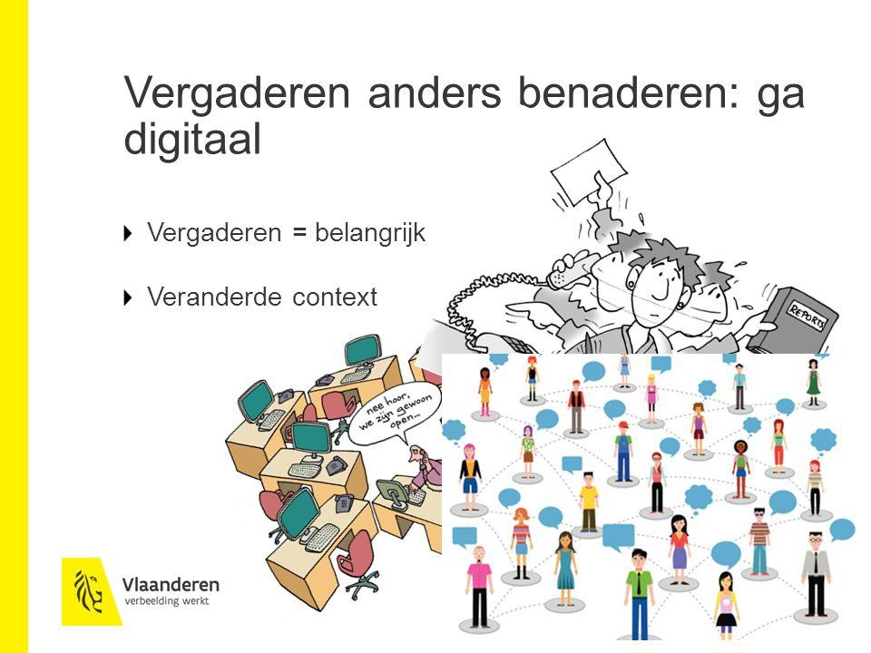 Voordelen online vergaderen Tijdsbesparing Kostenbesparing Efficiëntieverbetering Versterking interne communicatie Balans werk/privé