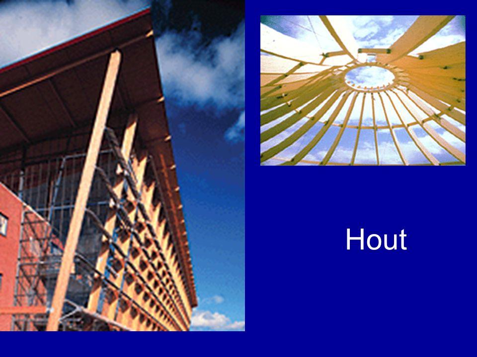 Natuurlijk materiaal –Niet homogeen –Beperking qua afmetingen b.v.