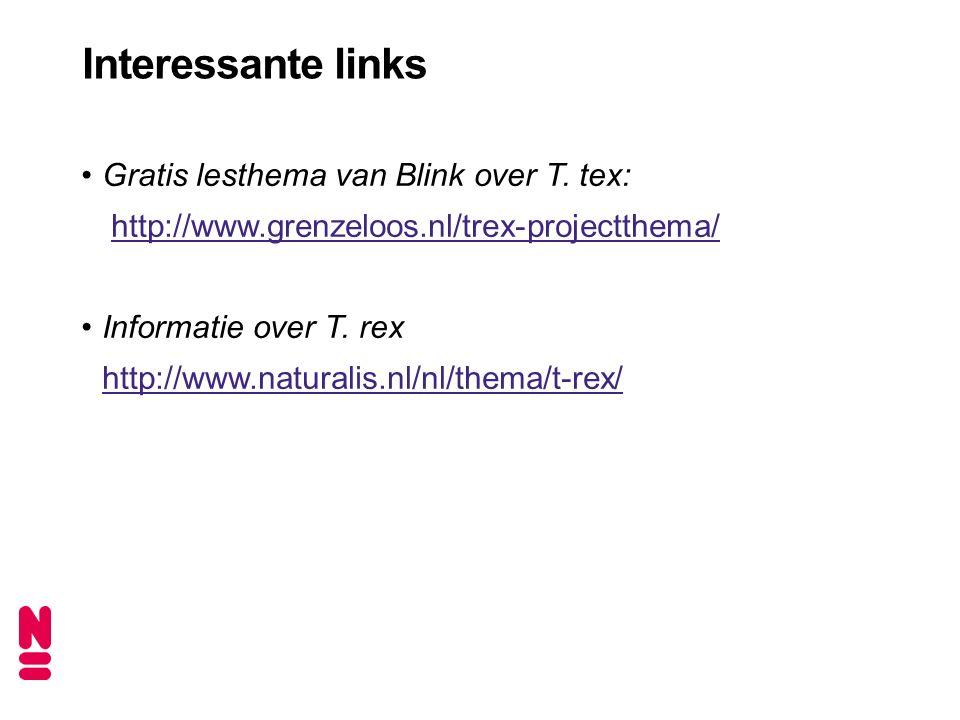 Interessante links Gratis lesthema van Blink over T.