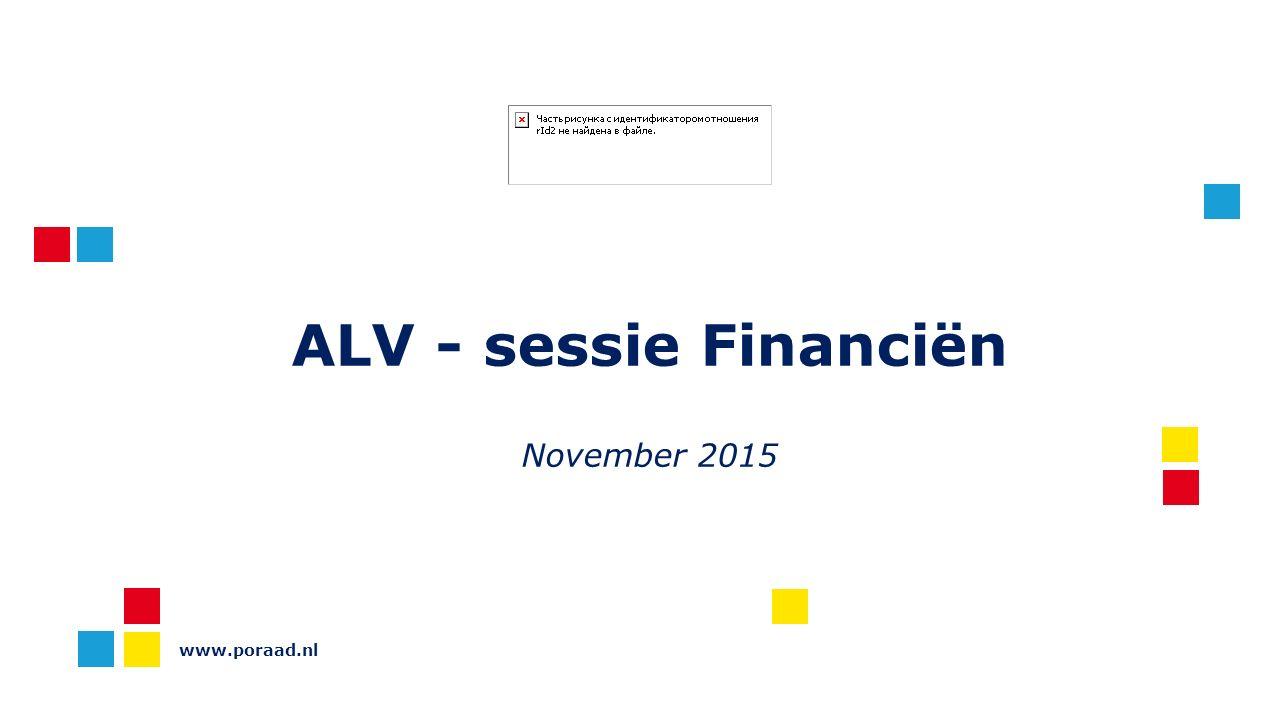 ALV - sessie Financiën November 2015 www.poraad.nl