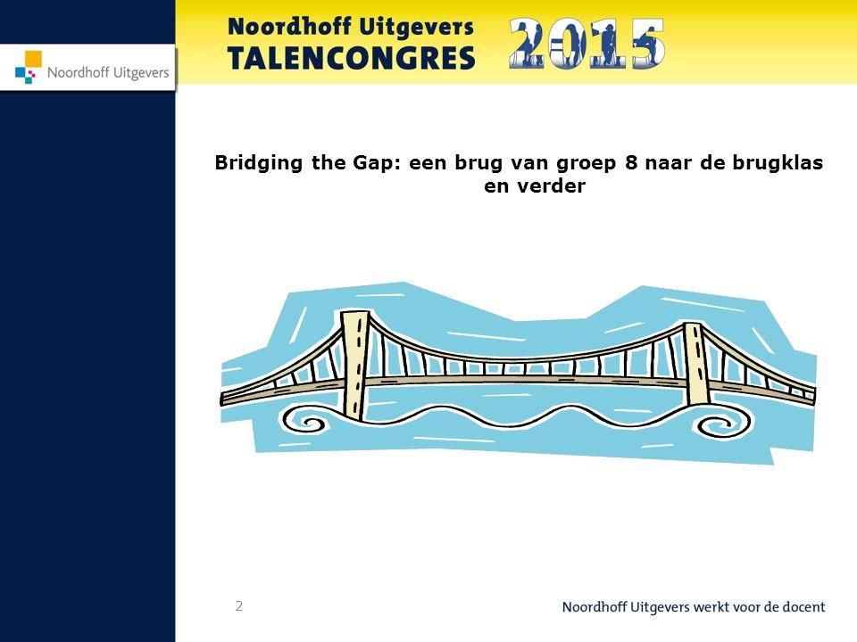3 Programma: Even voorstellen Wat is Bridging the Gap – primary.