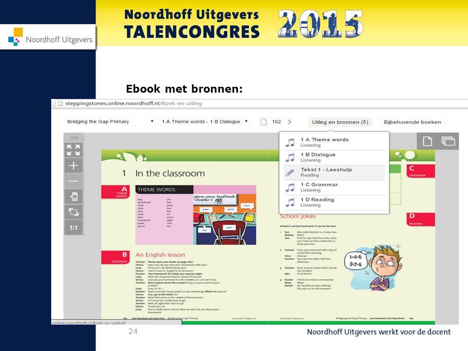 24 Ebook met bronnen: