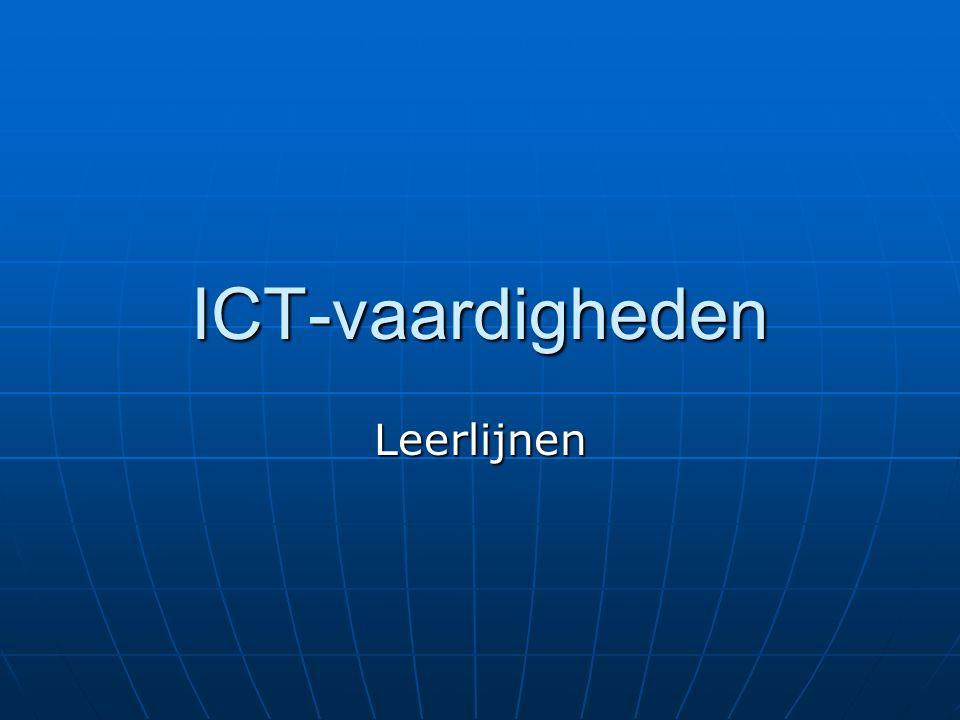 ICT-vaardigheden Leerlijnen