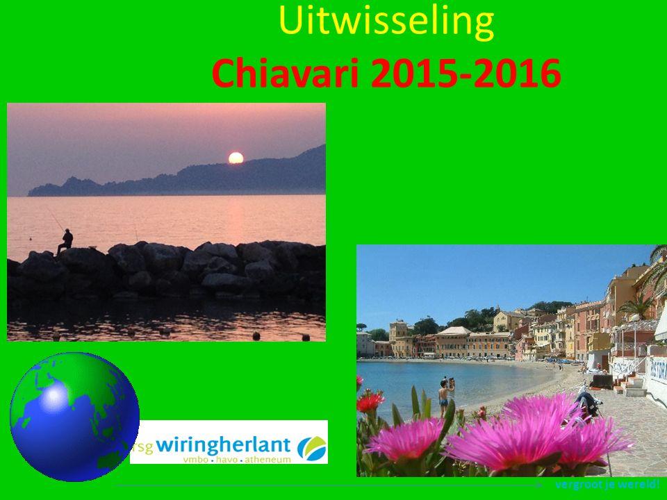 vergroot je wereld! Uitwisseling Chiavari 2015-2016