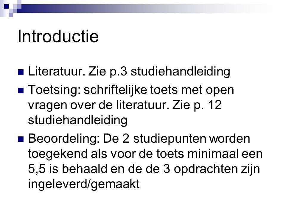 Introductie Literatuur.