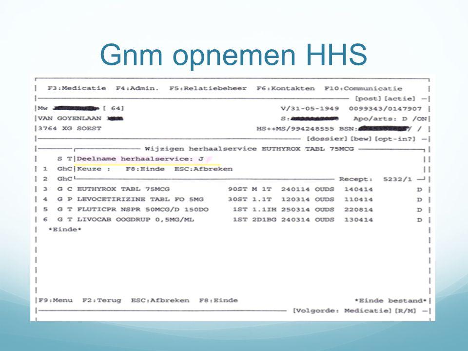 Gnm opnemen HHS