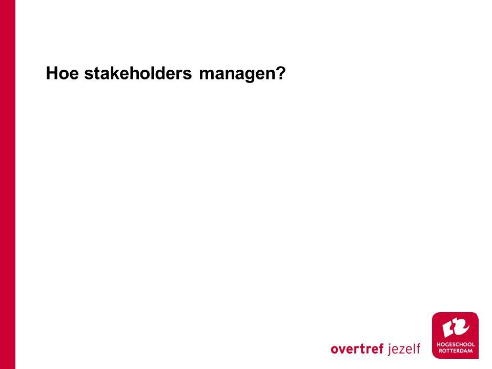 Hoe stakeholders managen?