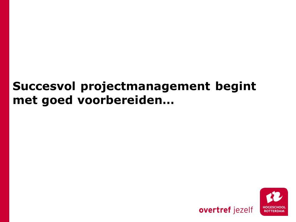 Succesvol projectmanagement begint met goed voorbereiden…