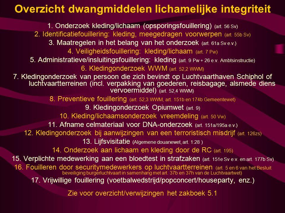 13-12-2015www.zakboekenpolitie.com43 Voor een onderzoek aan de kleding vereist de Wet wapens en munitie ernstige bezwaren Stelling