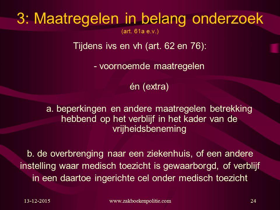 13-12-2015www.zakboekenpolitie.com24 3: Maatregelen in belang onderzoek (art.
