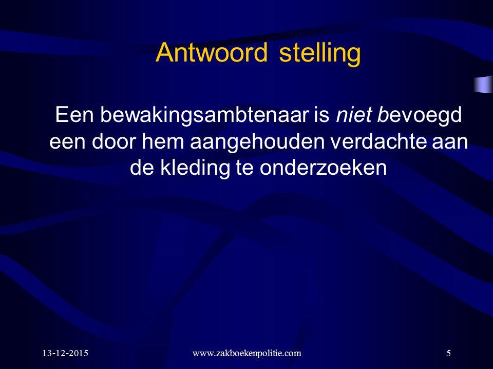 13-12-2015www.zakboekenpolitie.com66 11: DNA-onderzoek veroordeelden Art.