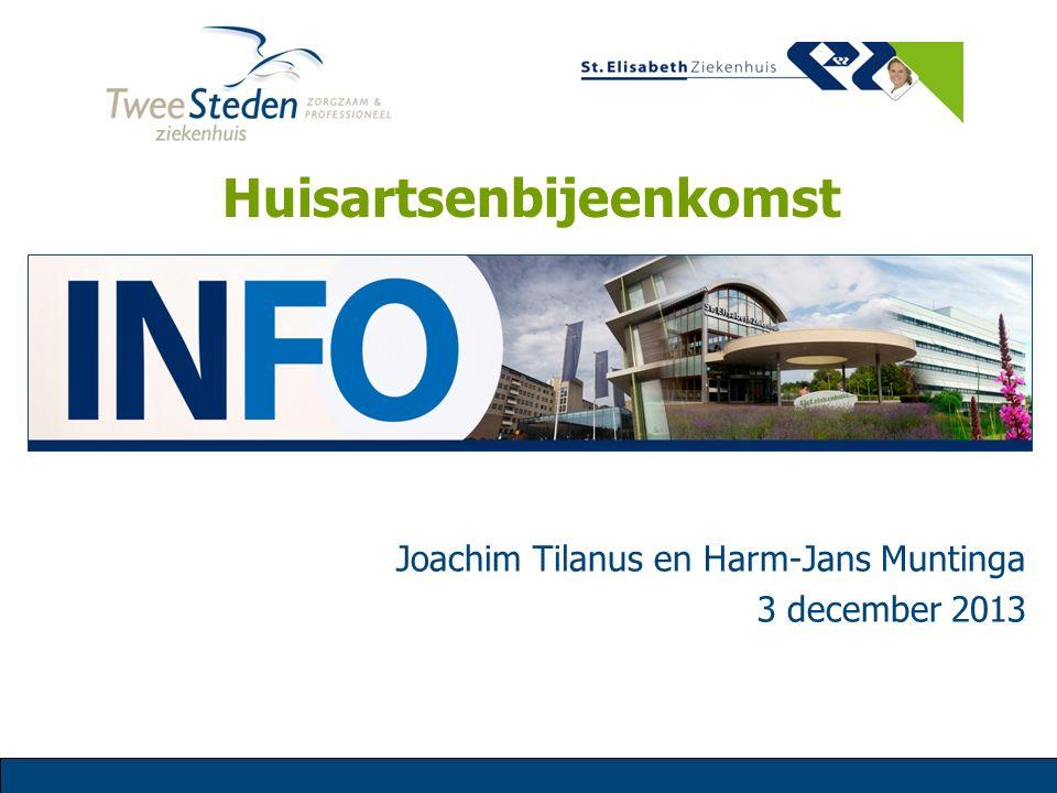 Joachim Tilanus en Harm-Jans Muntinga 3 december 2013 Huisartsenbijeenkomst