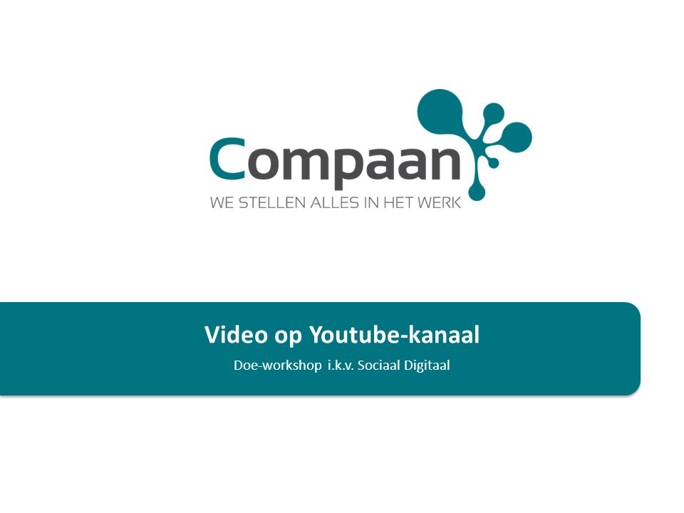 Video op Youtube-kanaal Doe-workshop i.k.v. Sociaal Digitaal