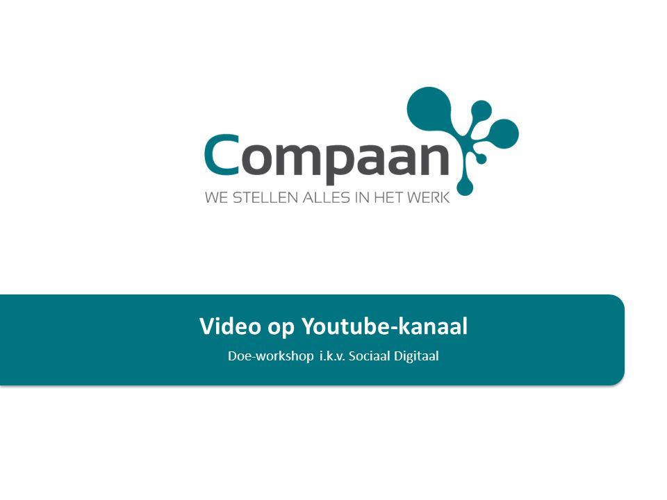 Het opzet… Een plek op YouTube creëren waar we eigen video's kunnen plaatsen binnen diverse thema's: Instructievideo's, zoals het kassafilmpje of de screencasts ter ondersteuning van deze workshop Informatieve video's voor deelnemers i.k.v.