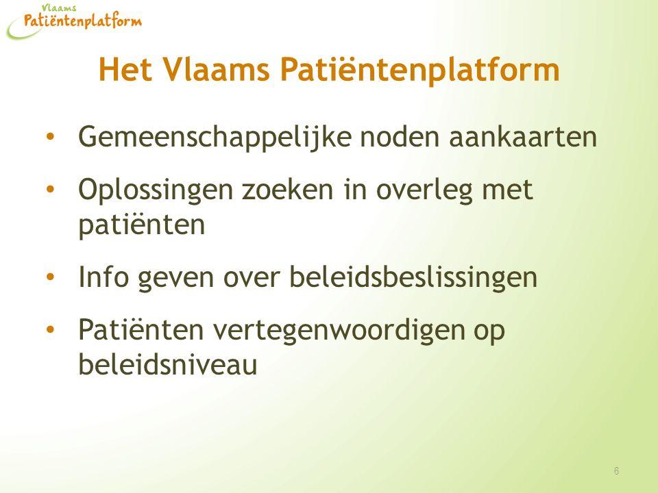 Het Vlaams Patiëntenplatform Thema's Bekendmaking van de rechten van de patiënt Verzekeringen (bv.