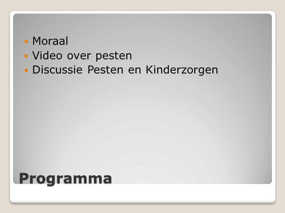 Programma Moraal Video over pesten Discussie Pesten en Kinderzorgen