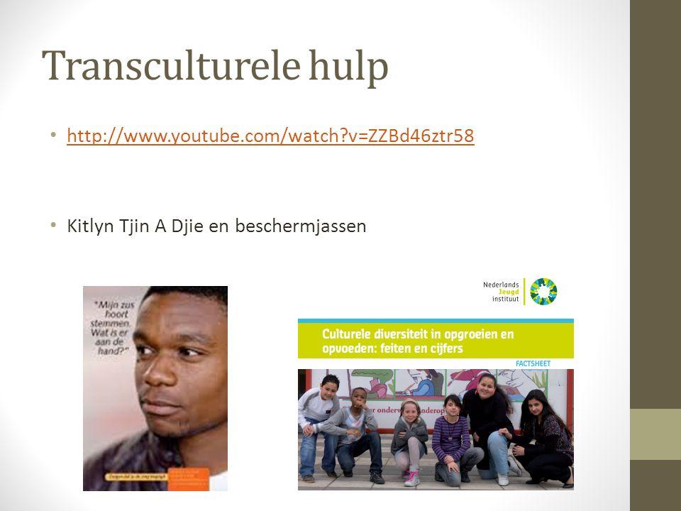 Transculturele hulp http://www.youtube.com/watch?v=ZZBd46ztr58 Kitlyn Tjin A Djie en beschermjassen