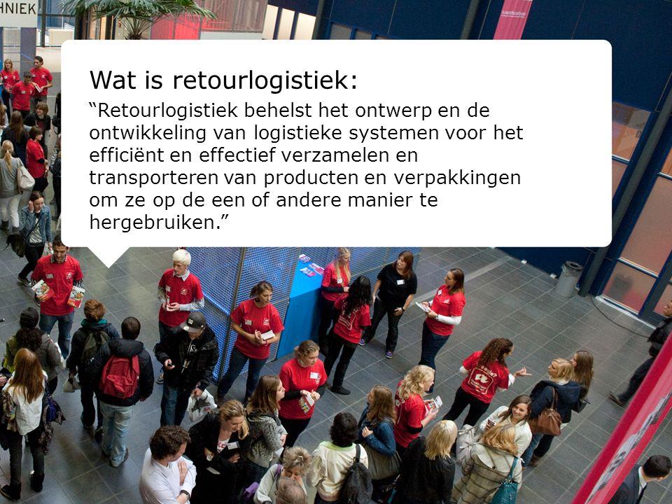 Wat is retourlogistiek: Retourlogistiek behelst het ontwerp en de ontwikkeling van logistieke systemen voor het efficiënt en effectief verzamelen en transporteren van producten en verpakkingen om ze op de een of andere manier te hergebruiken.