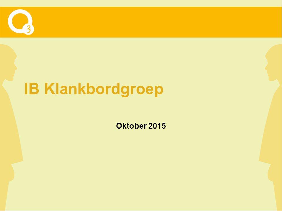 IB Klankbordgroep Oktober 2015