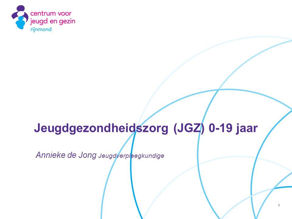 Annieke de Jong Jeugdverpleegkundige Jeugdgezondheidszorg (JGZ) 0-19 jaar 6