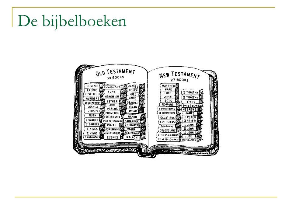 De bijbelboeken