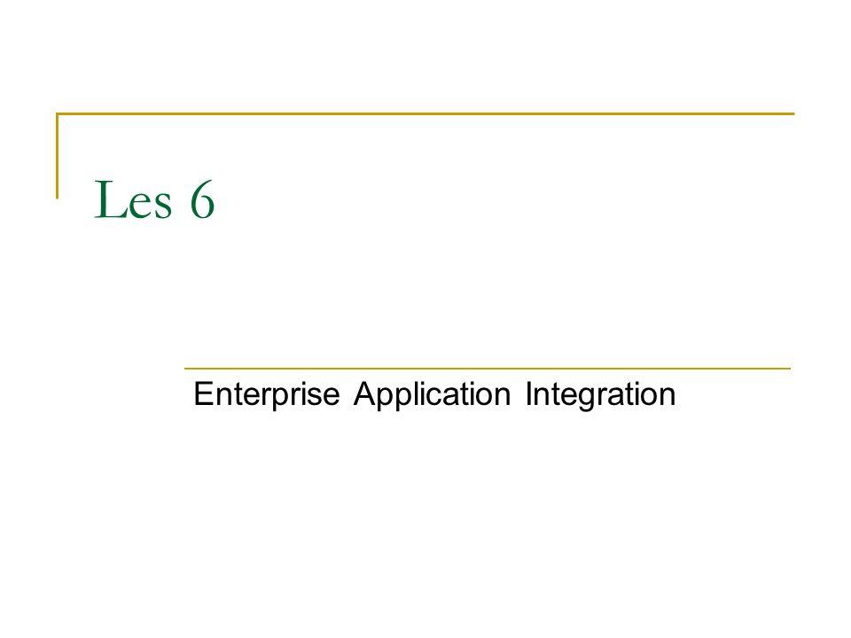 Les 6 Enterprise Application Integration