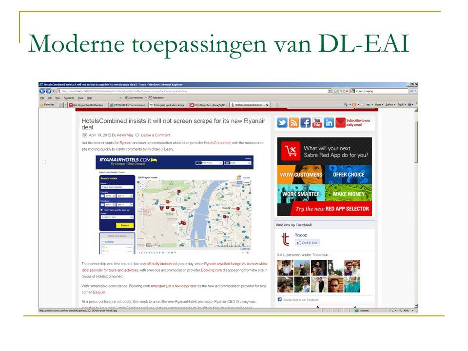 Moderne toepassingen van DL-EAI