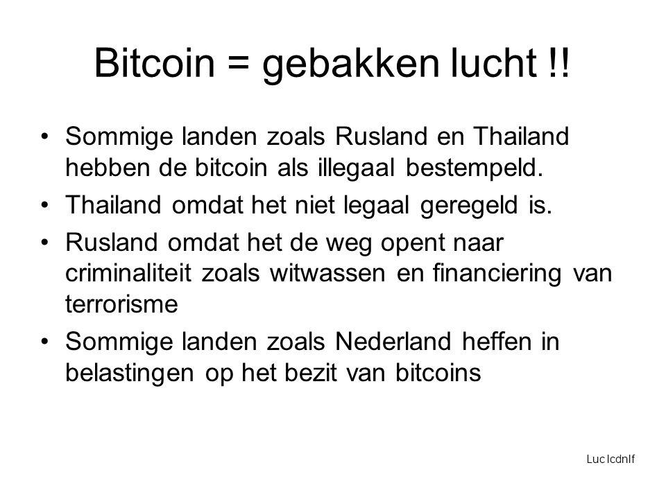 Bitcoin = gebakken lucht !.
