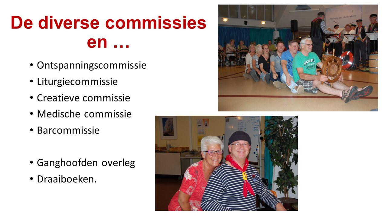 De diverse commissies en … Ontspanningscommissie Liturgiecommissie Creatieve commissie Medische commissie Barcommissie Ganghoofden overleg Draaiboeken