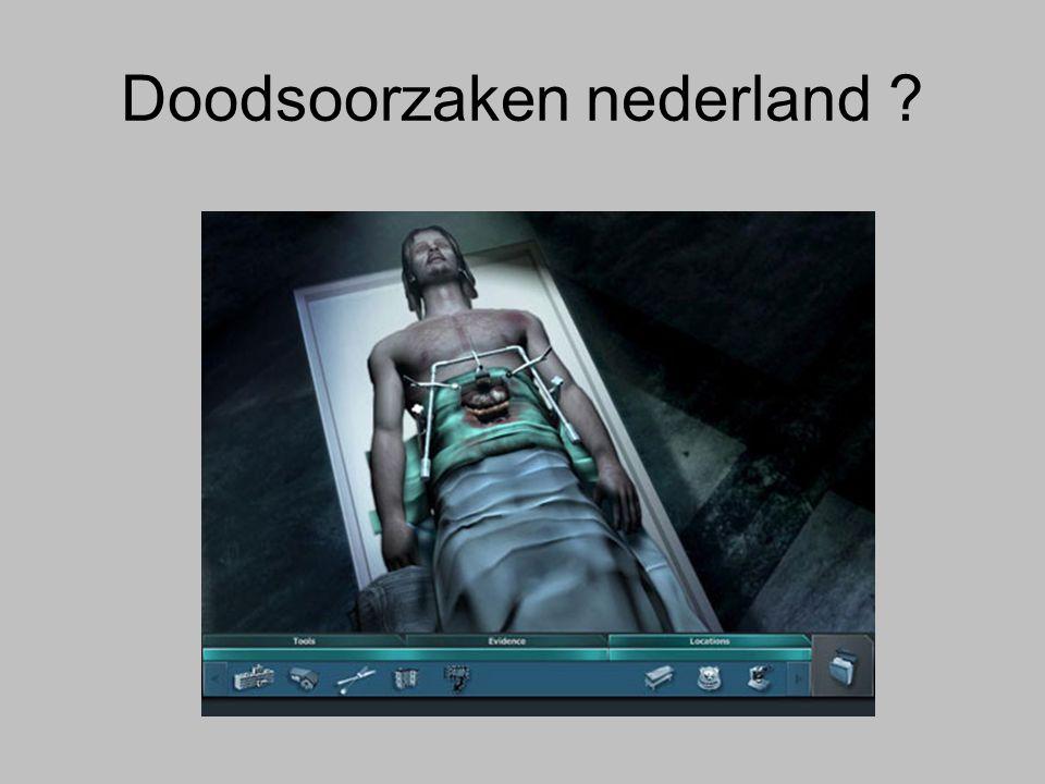 Doodsoorzaken nederland ?