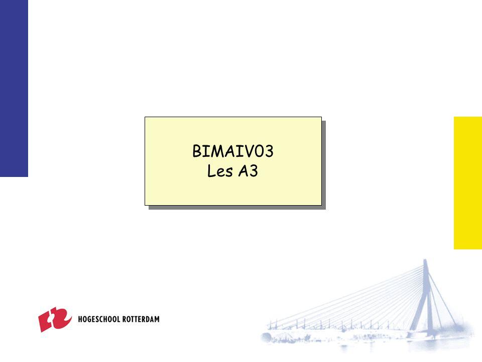 Week 2 BIMAIV03 Les A3